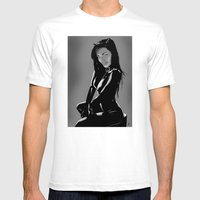 Catwoman Mens Fitted Tee White SMALL