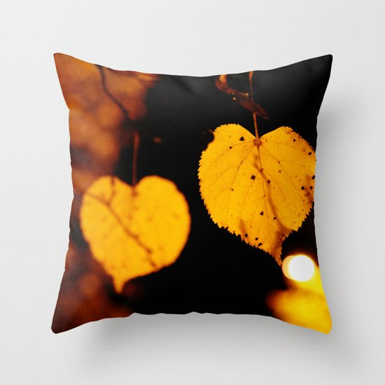 Side by side...last night Throw Pillow