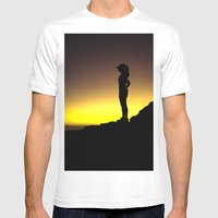 Taking A Run Break Mens Fitted Tee White SMALL