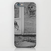 Death's newspaper booth iPhone 6 Slim Case