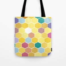Honey Comb turns Zesty Tote Bag