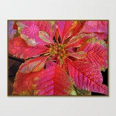 Elegant Poinsettia Canvas Print