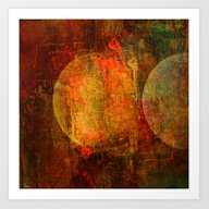Abstract Moons Art Print