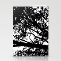 Pecan Tree Silhouette Stationery Cards