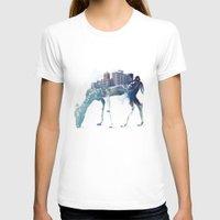 deer T-shirts featuring City Deer by Robert Farkas