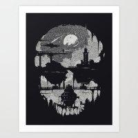 Echoes - Monochrome version Art Print