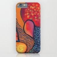iPhone & iPod Case featuring Dance in Orange by Brenda Mangalore