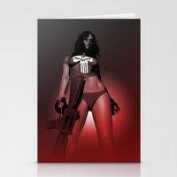 Lady Punisher Stationery Cards