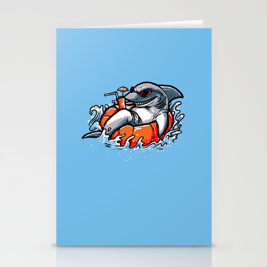 summer pool shark Stationery Card