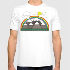 Beautiful day White SMALL Mens Fitted Tee