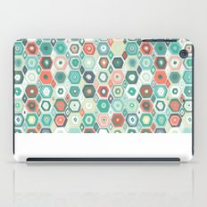hex diamond coral mint iPad Case