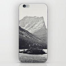 Glacier Mountain Lake Black and White iPhone & iPod Skin