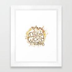 Something Wicked Macbeth Shakespeare Illustration Framed Art Print
