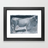 Impressions of a Brown Swiss Framed Art Print
