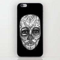 Floating Sugar Skull iPhone & iPod Skin