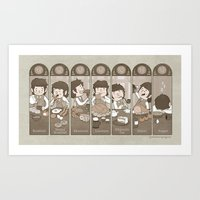 The Seven Daily Meals Art Print