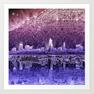 Cleveland City Skyline Art Print