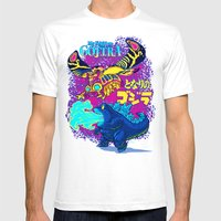 MY NEIGHBOR GOJIRA Mens Fitted Tee White SMALL