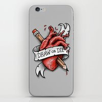 Draw or Die iPhone & iPod Skin