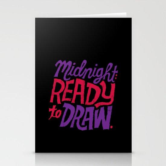 Midnight: Ready to Draw Stationery Card