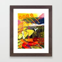 Wave yellow Framed Art Print