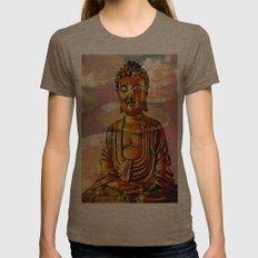 Buddha 2 Womens Fitted Tee Tri-Coffee SMALL