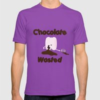 Chocolate Wasted (blue) Mens Fitted Tee Ultraviolet SMALL