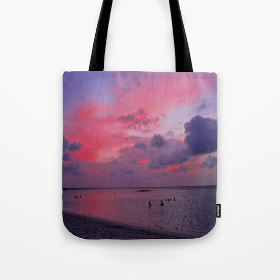 Swimming Towards Sundown Tote Bag