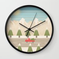 Wall Clock featuring Winter Days (version 2) by Tammy Kushnir