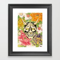 Japanese Hannya Mask Framed Art Print