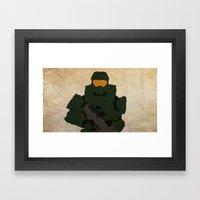 Master Chief - Man Or Ma… Framed Art Print