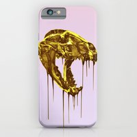 "iPhone & iPod Case featuring Painted Skull ""Badger"" Gold by BOU†IQUE • FORSH∆W"
