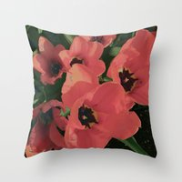 BLUSHED FLORAL Throw Pillow