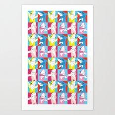 Left Shark Pop Art Art Print