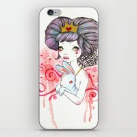 Princess With Bunny iPhone & iPod Skin
