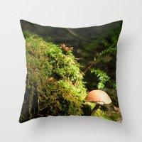 Mushroom Chimney Throw Pillow