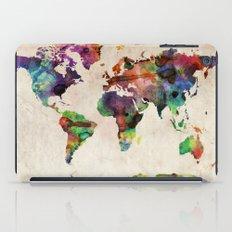 World Map Urban Watercol… iPad Case