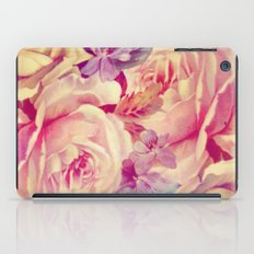 soft vintage roses iPad Case