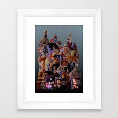 The city of Diomira Framed Art Print