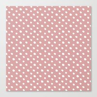 Mauve polka dots pattern - classy college student collection Canvas Print