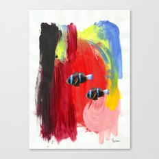 Paint the Blues Away Oceanic Canvas Print