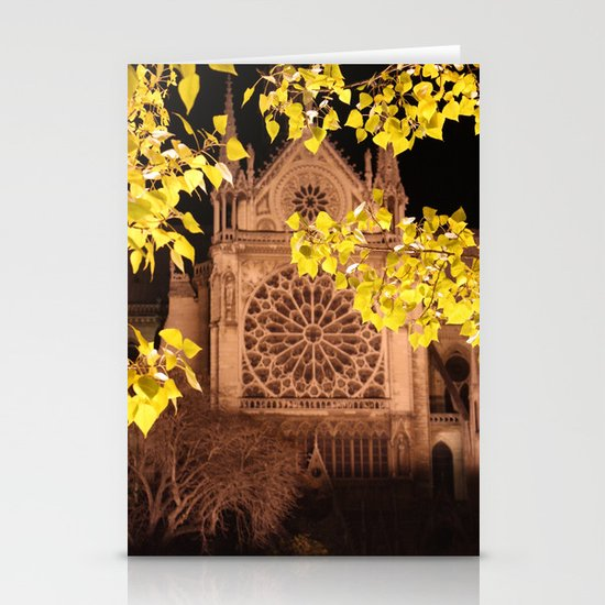 Midnight Blossoms Stationery Card