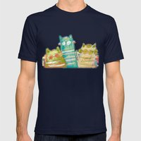 Cats Mens Fitted Tee Navy SMALL