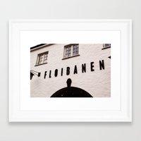 Fløibanen I Framed Art Print