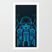 robot Art Prints featuring Robot by Martin Laksman