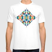 Geometric #2 Mens Fitted Tee White SMALL