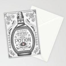 Legend of Zelda Red Potion Vintage Hyrule Line Work Letterpress Stationery Cards