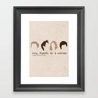 The Many Styles Of Chris… Framed Art Print
