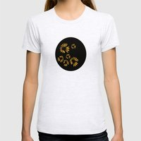 sunflowers Womens Fitted Tee Ash Grey SMALL