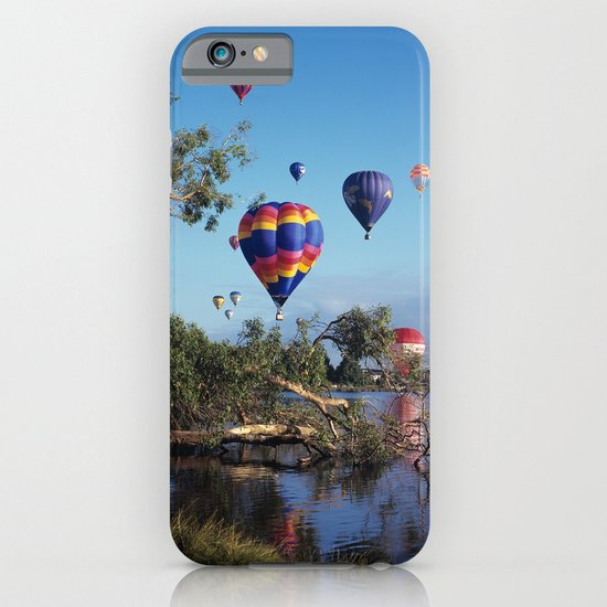 Hot air balloon scene iPhone & iPod Case